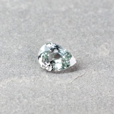 1.18 ct light blue pear shape sapphire