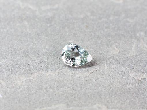1.18 ct light blue pear shape sapphire