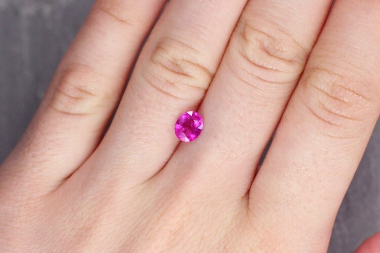1.18 ct pinkish red oval ruby