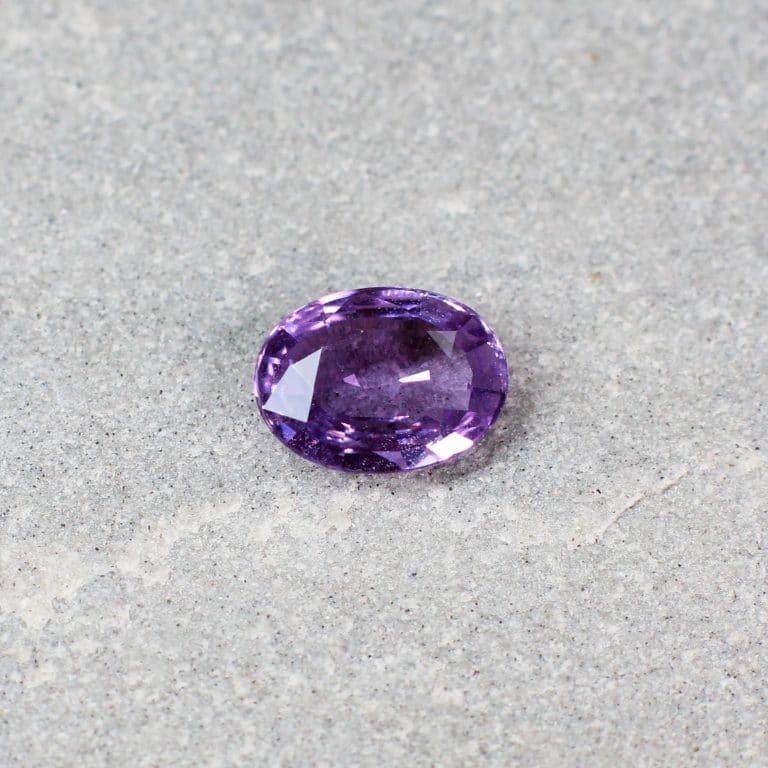 1.18 ct purple oval sapphire