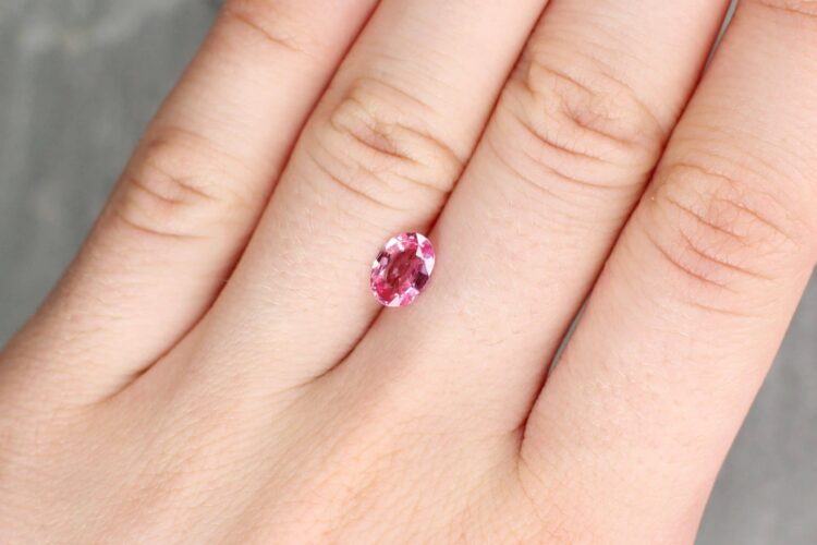 1.19 ct pink oval sapphire