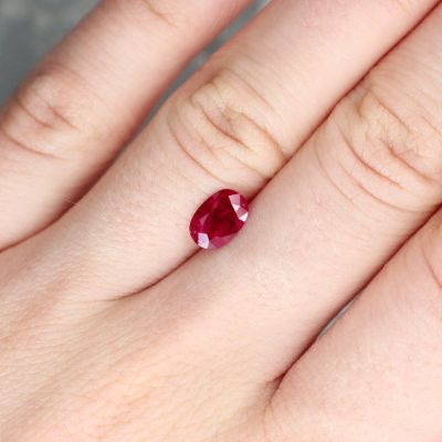 1.21 ct red oval ruby