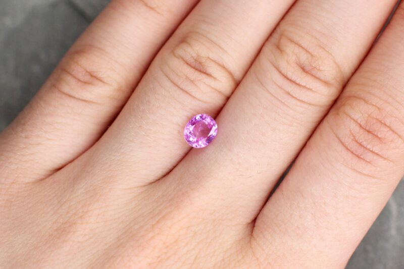 1.23 ct pink oval sapphire