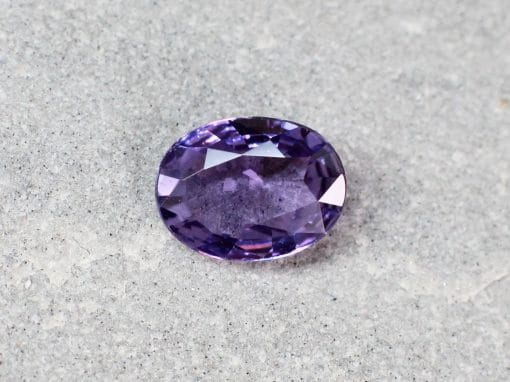 1.25 ct purple oval sapphire