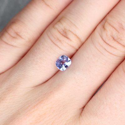 1.26 ct purple cushion sapphire