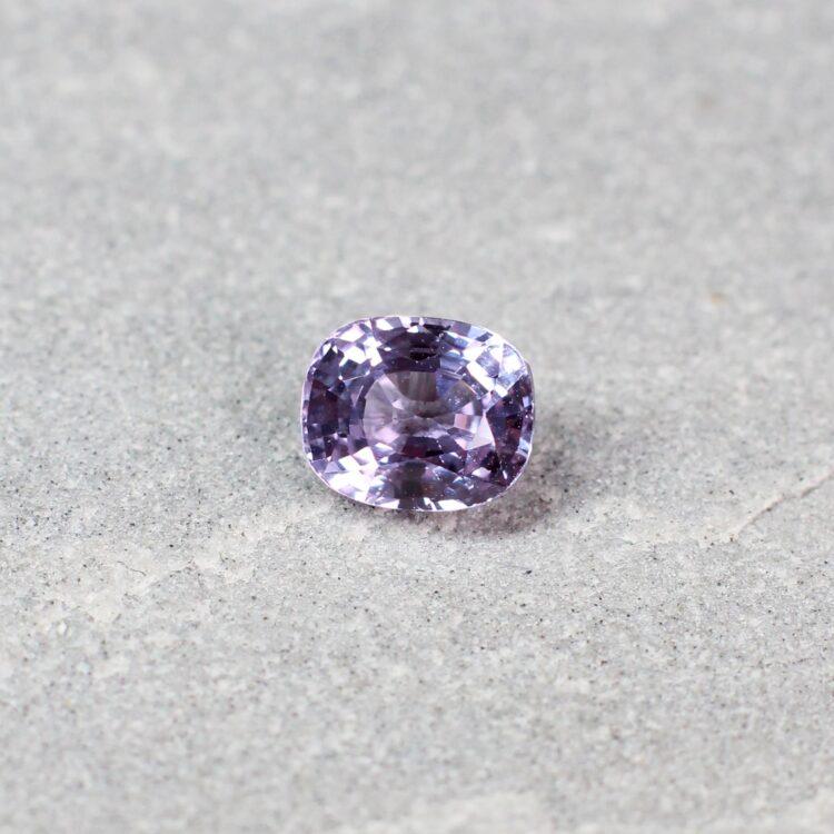 1.27 ct purple cushion sapphire