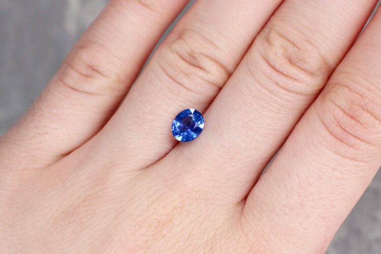 1.30 ct blue oval sapphire
