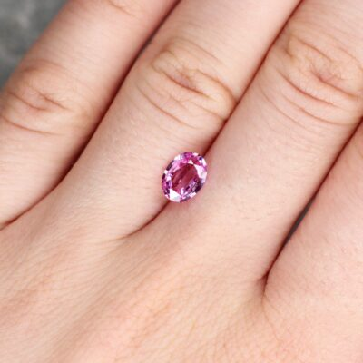 1.30 ct pink oval sapphire