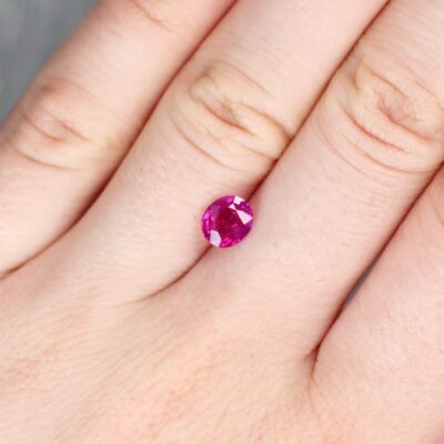 1.32 ct pinkish red oval ruby