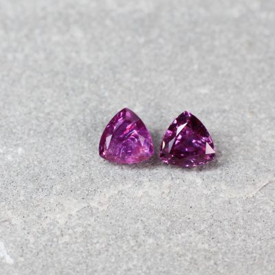 1.32 ct purplish red triangle ruby