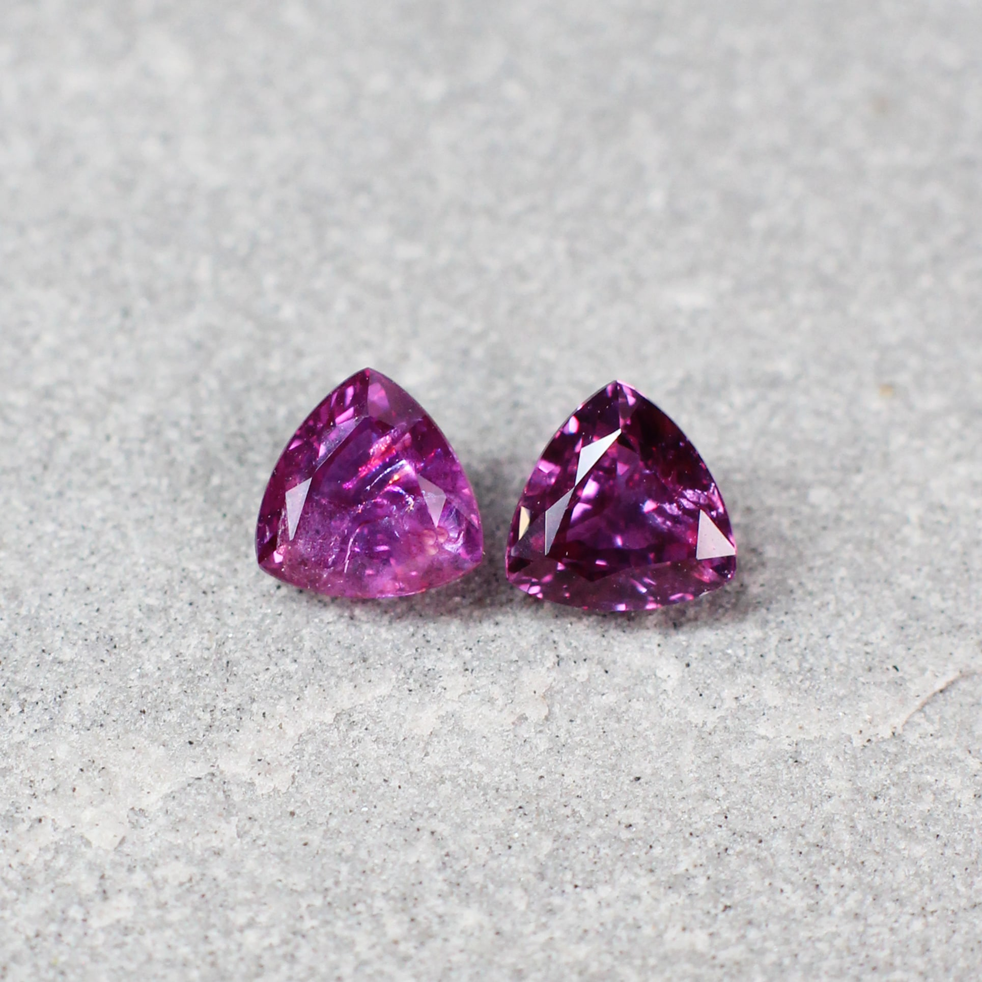 1.32 ct purplish red triangle ruby