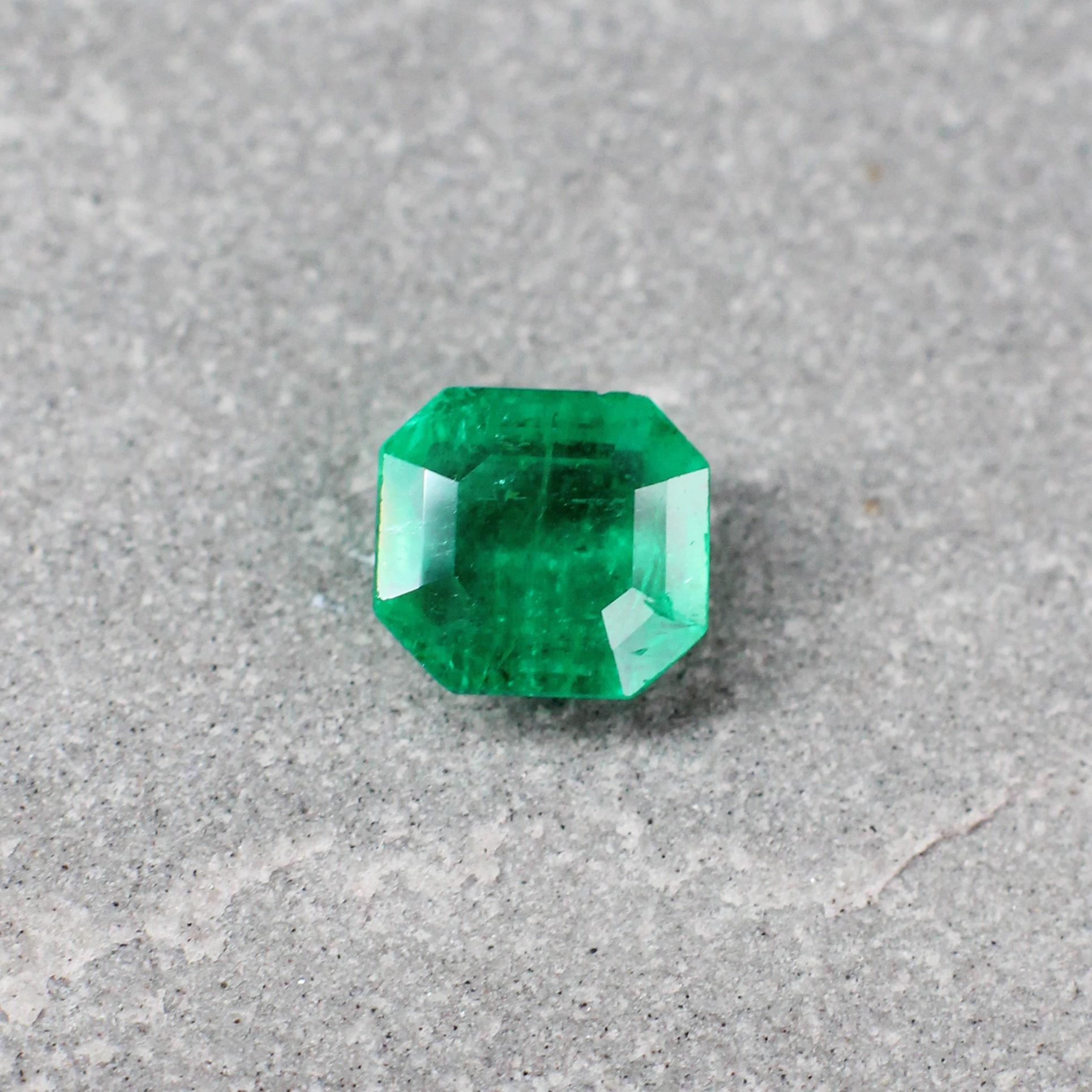 1.34 ct emerald cut green emerald