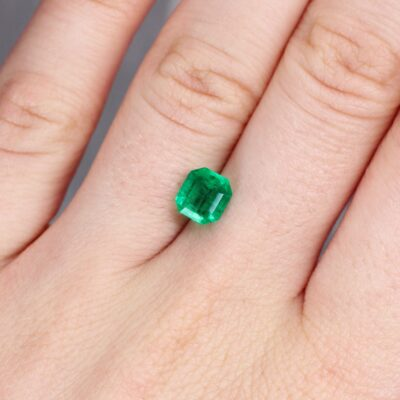 1.34 ct emerald cut green emerald