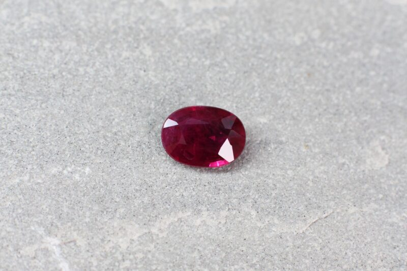 1.36 ct red oval ruby