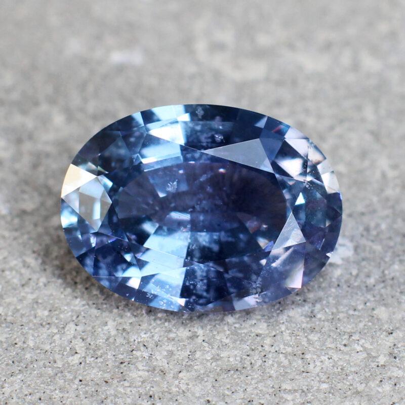 3.26 ct bluish purple oval sapphire