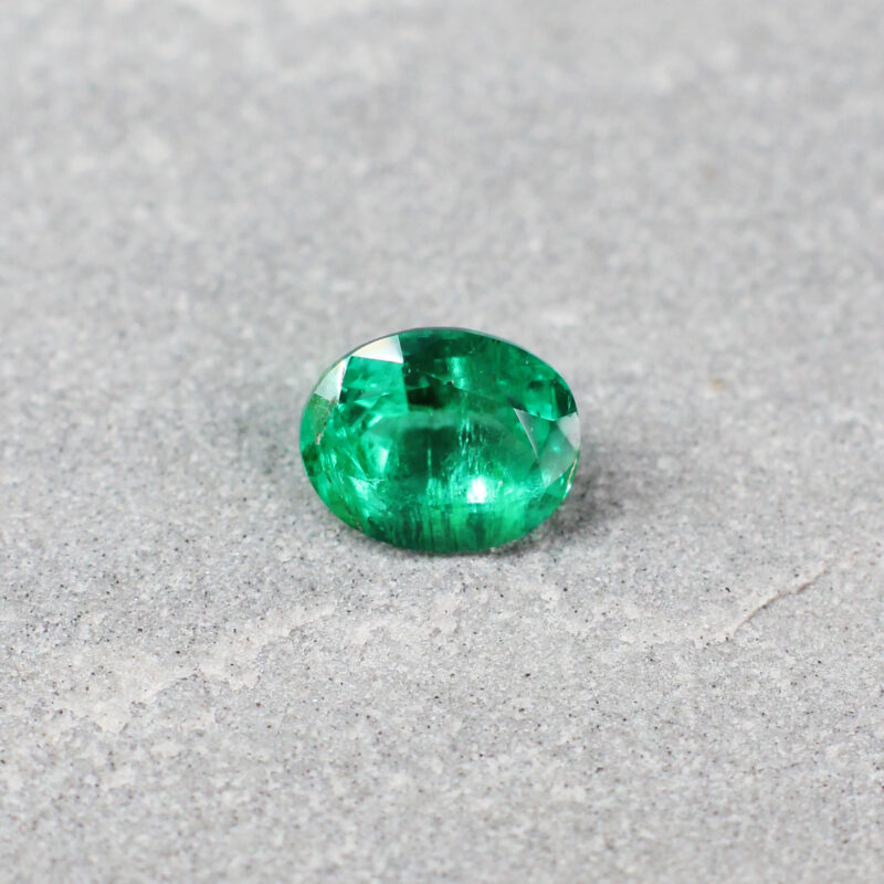 1.39 ct green oval emerald