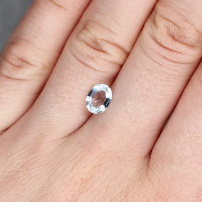 1.40 ct fancy light blue oval sapphire