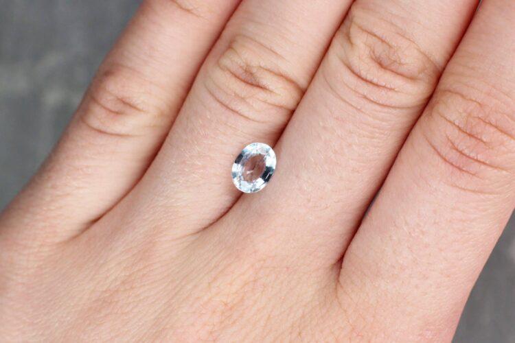 1.40 ct fancy light blue oval sapphire