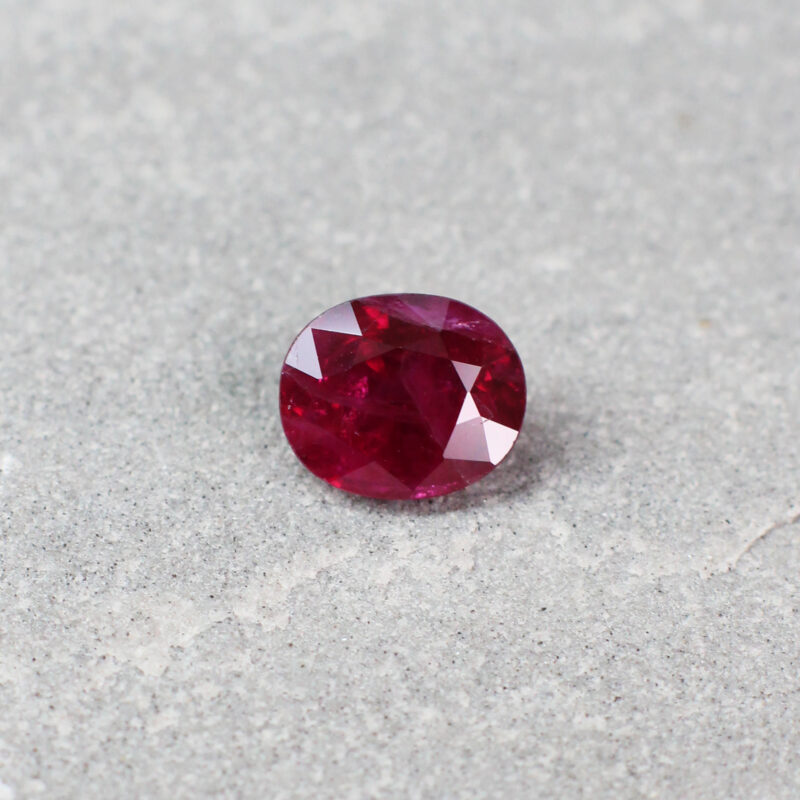 1.42 ct red oval ruby