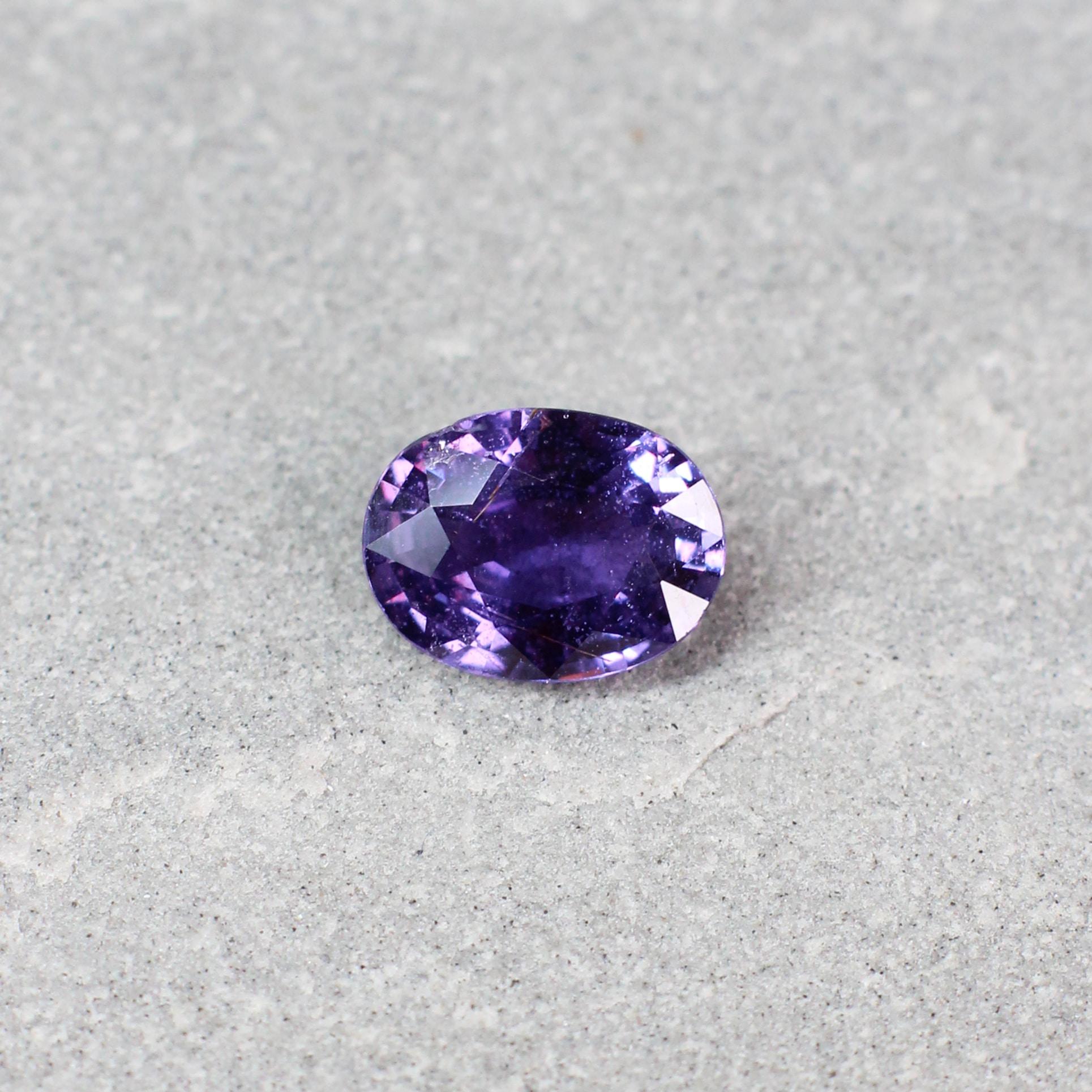 1.44 ct purple oval sapphire