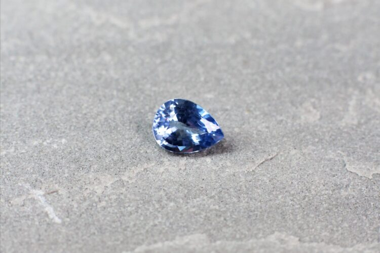 1.46 ct blue pear shape sapphire