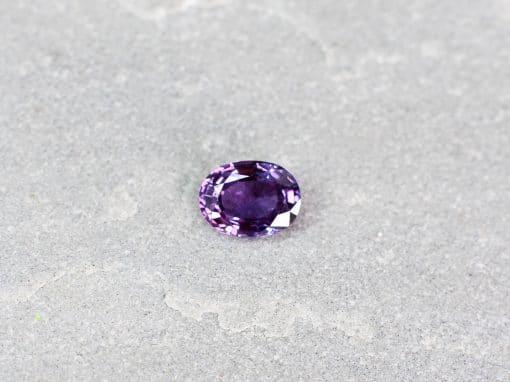 1.46 ct purple oval sapphire