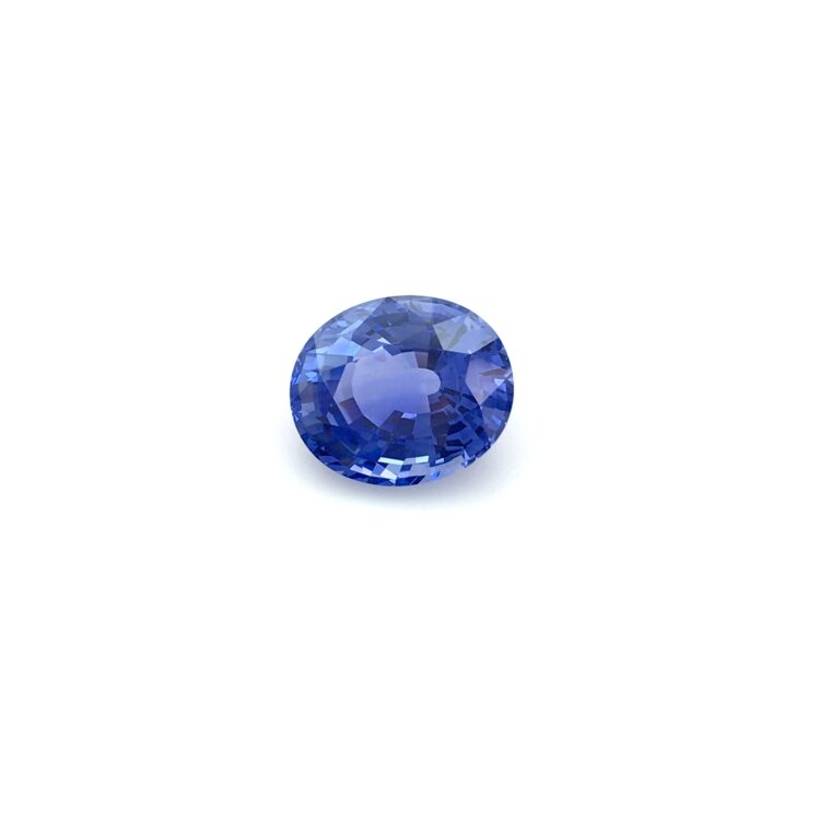 5.10 ct blue oval sapphire