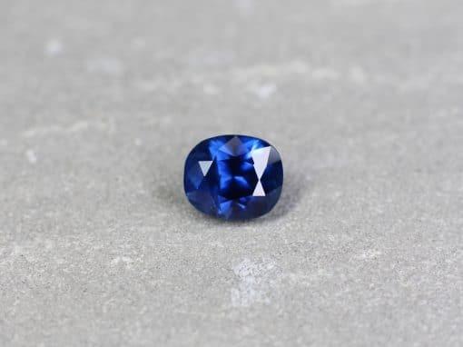 3.35 ct blue cushion sapphire