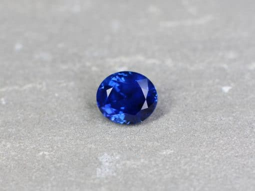 5.15 ct royal blue oval sapphire