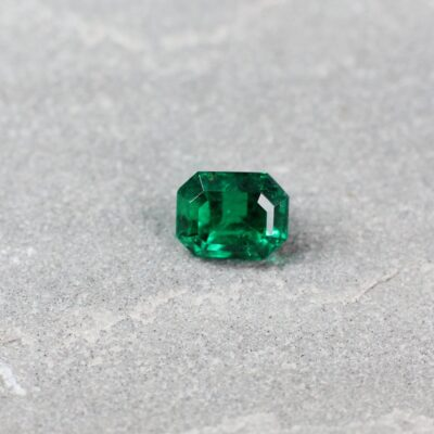 1.53 ct green octagon emerald