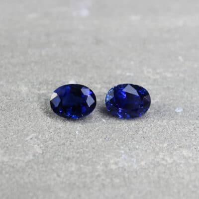 3.88 ct blue oval sapphire