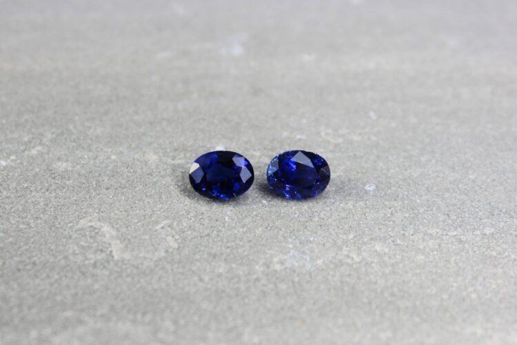 3.88 ct blue oval sapphire