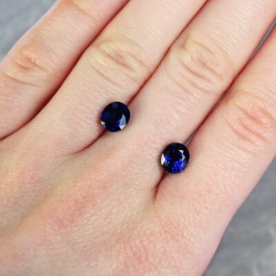 4.28 ct blue oval sapphire