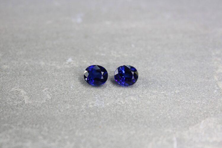 4.28 ct blue oval sapphire