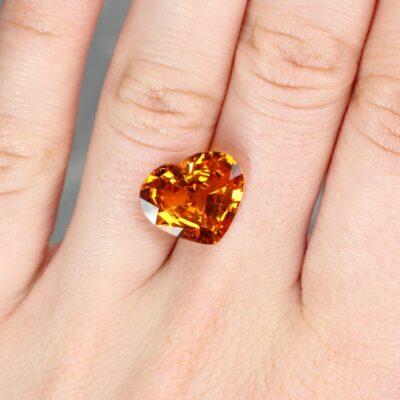 8.45 ct yellow heart sapphire