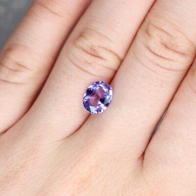 2.28 ct purple oval sapphire