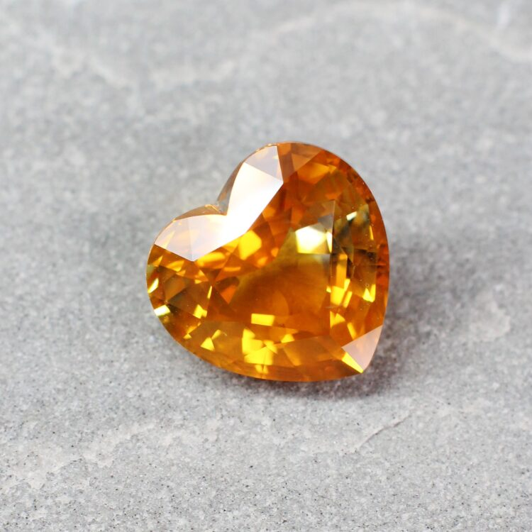 11.55 ct yellow heart sapphire