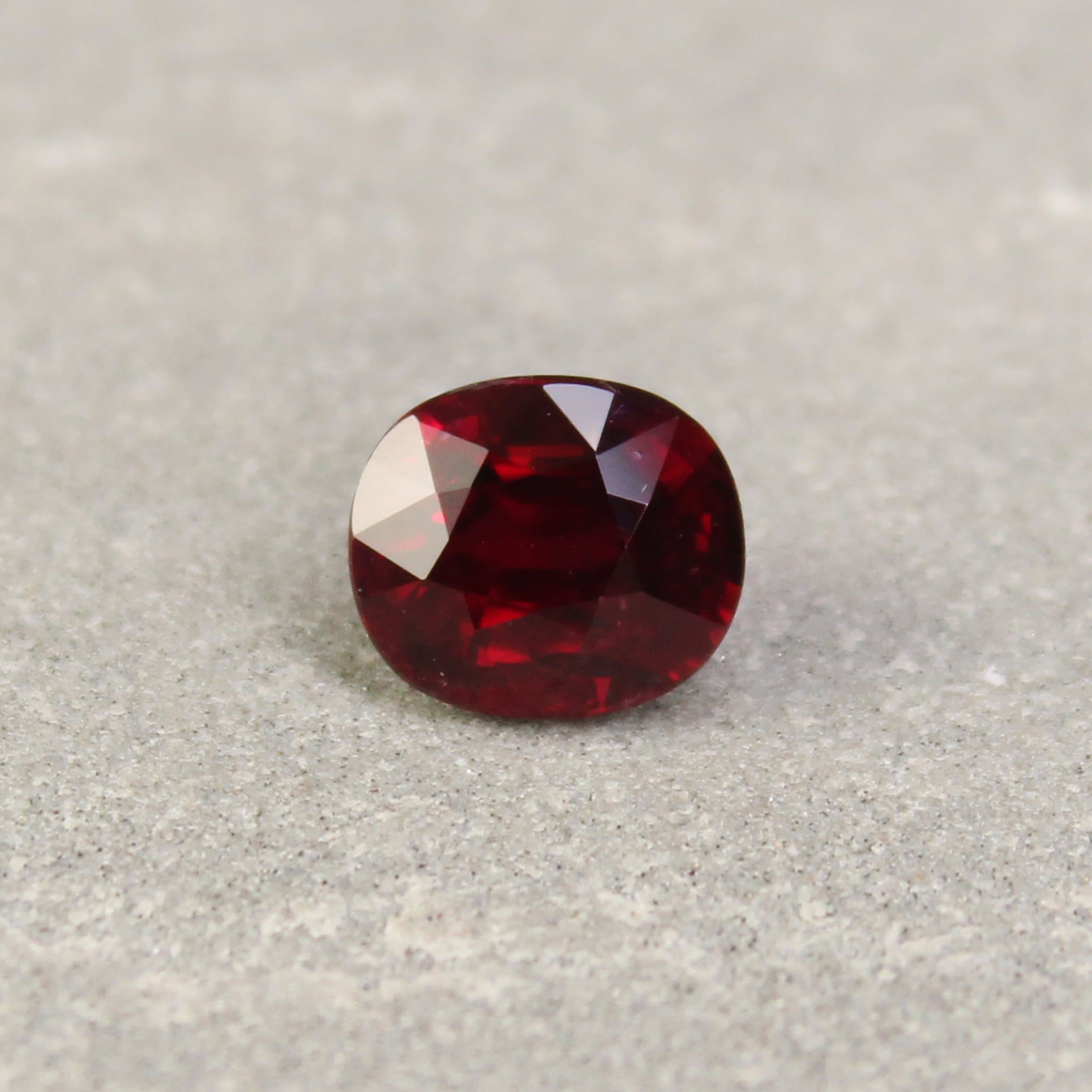 2.02 ct red oval ruby