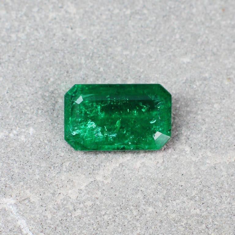 2.12 ct green octagon emerald