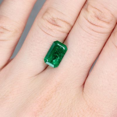 2.12 ct green octagon emerald