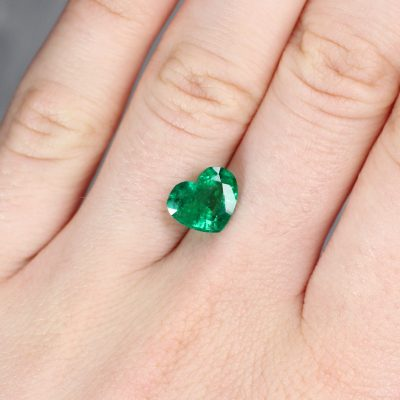 2.34 ct green heart emerald