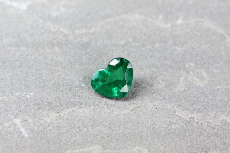 2.34 ct green heart emerald