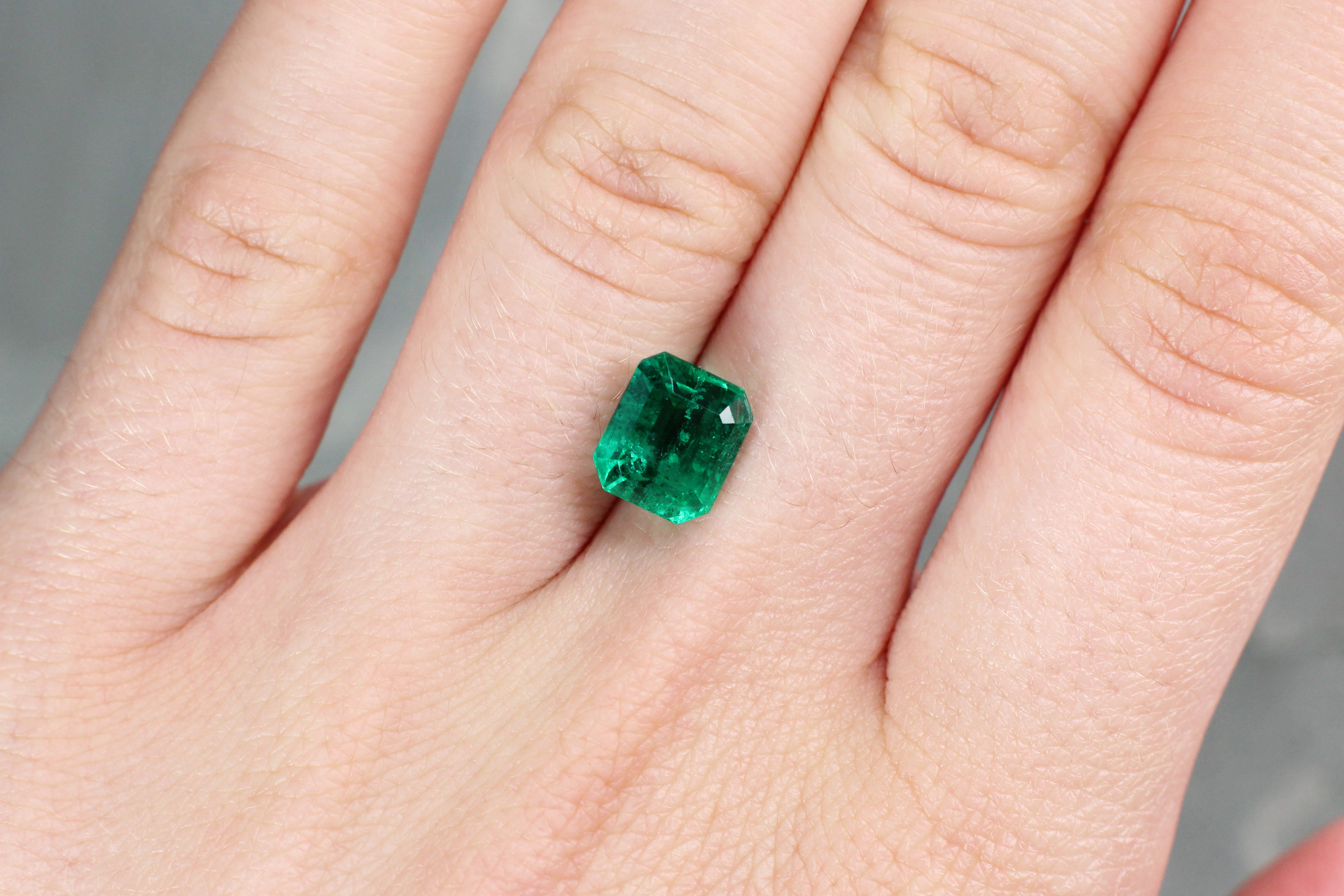 2.8 ct green octagon emerald