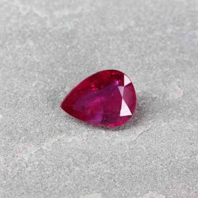 3.57 ct red pear shape ruby