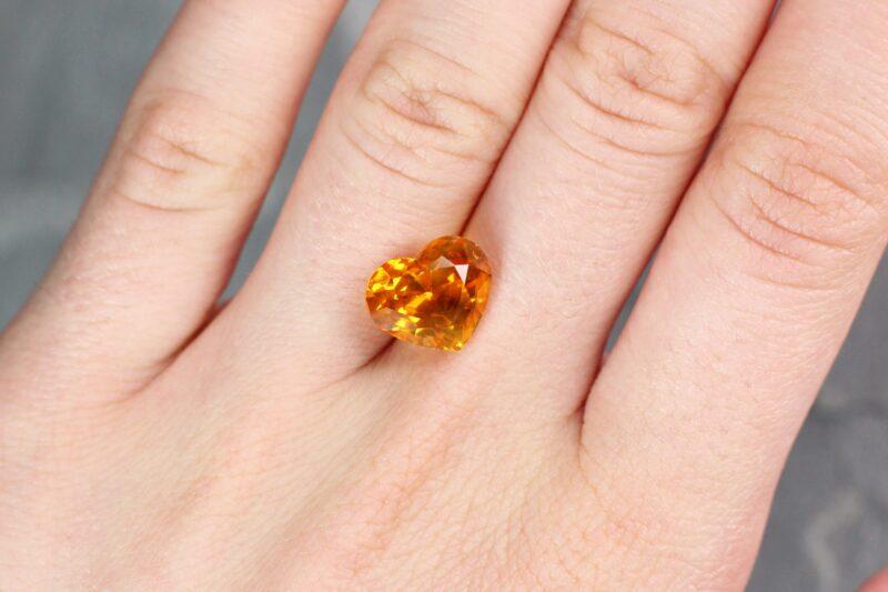 7.26 ct yellow heart sapphire