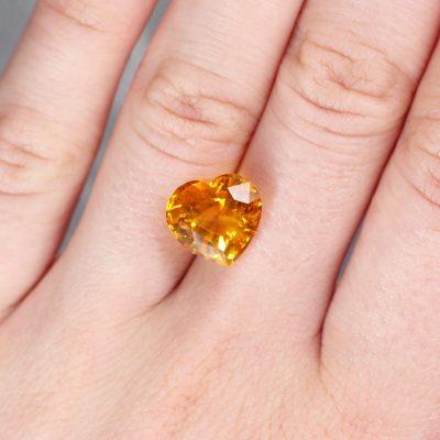 8.38 ct yellow heart sapphire