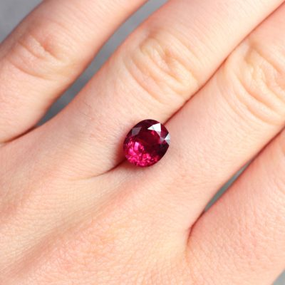 3.17 ct red oval ruby