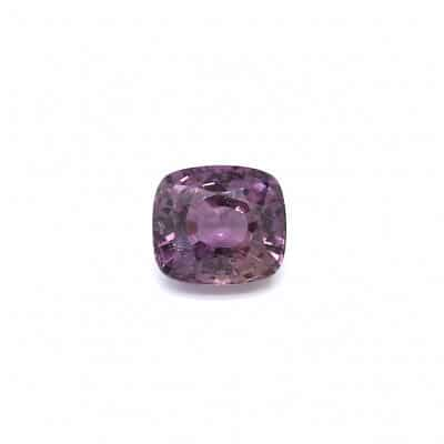 1.56ct untreated purple cushion sapphire