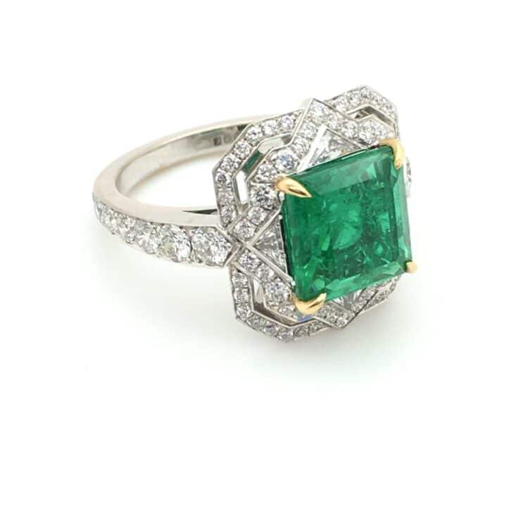 large classic emerald deco ring