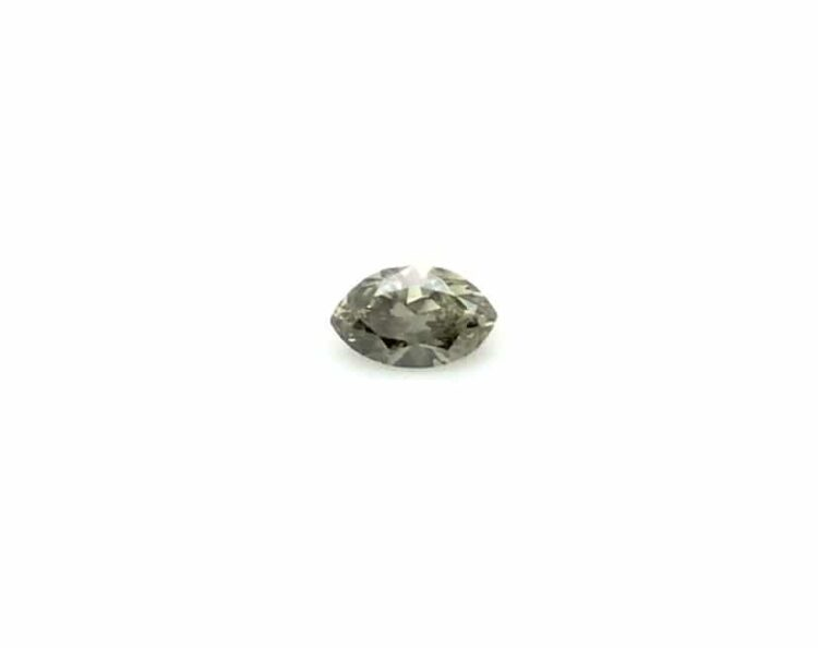 0.29ct greenish grey marquise diamond